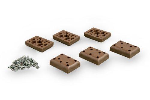 Strandkorb Kunststoff-Gleiter-Set, 6er-Set, LILIMO ®