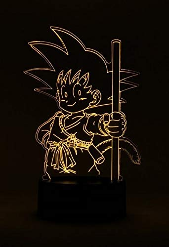 Dragon Ball Son Goku fuerza Lámpara mesa Led Luces