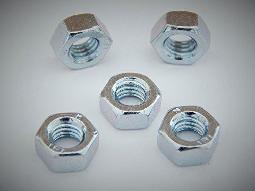 50 Stück Sechskantmuttern M8 Güteklasse 8.8 DIN 934 verzinkt, Mutter Sechskant Muttern