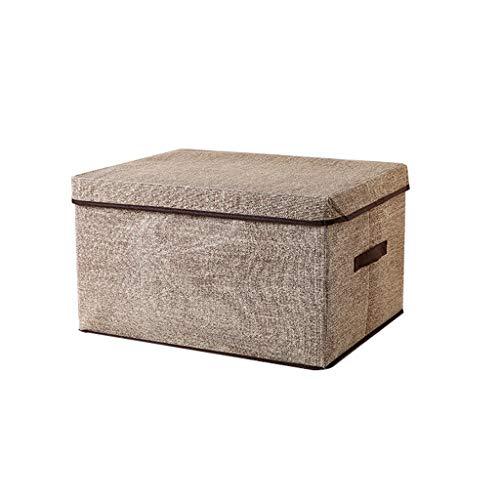 Zfggd Aufbewahrungsbox, Stoff Faltbare Lagerplätze Körbe mit Deckel und Griffe Container Kleidung Decke für Bücher Spielzeug DVDs Kunst und Handwerk Waschen Wäsche Organisation -