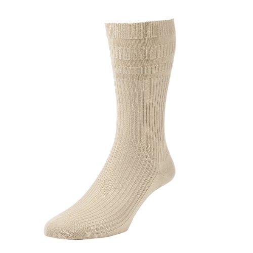 Weit Oben Socken (Hall Herren Socken 1Paar aus Baumwollgemisch oben weit und ohne elastisches Bündchen HJ91 SOFTOP)
