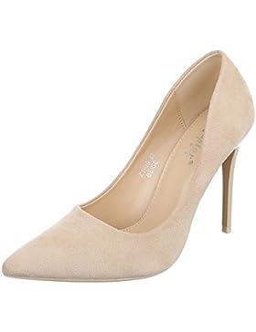 High Heel Damenschuhe Plateau Pfennig-/Stilettoabsatz High Heels Ital-Design Pumps