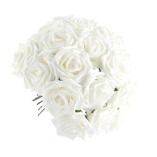 facillar-bouquet-50pcs-fleur-rose-artificielle-en-tissu-blanc-decoration-maison-mariage