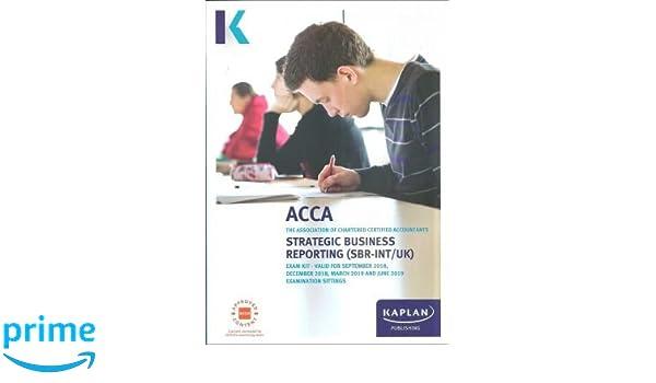 Strategic Business Reporting (Acca Exam Kits): Amazon co uk