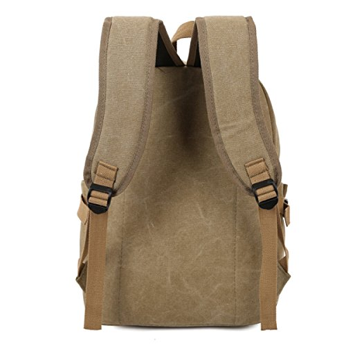Laidaye Retro Canvas Backpack Business Tempo Libero Multiuso Viaggio Zaino Verde
