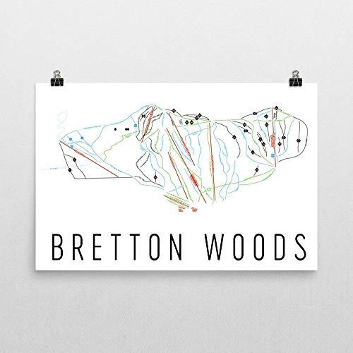 Modern Map Art Lámina de Bretton Woods