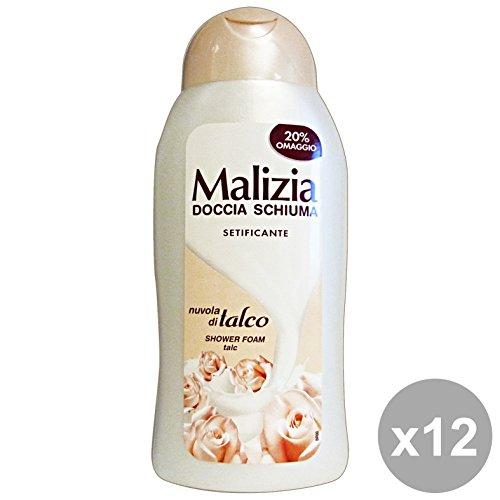 Malicieuse Set 12 douche Talc setificante 300 ml. Les savons et cosmétiques