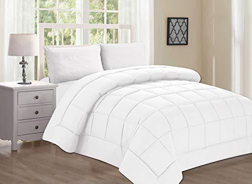 Elegant Comfort Down Alternative Comforter Duvet Cover Insert, Twin/Twin X-Large, White by Elegant Comfort -