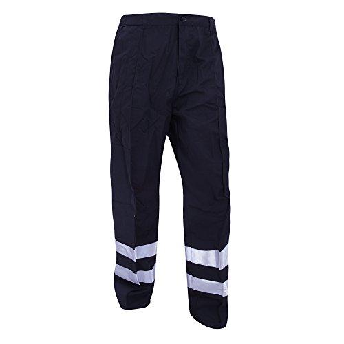 Yoko Reflective Ballistic Hose für Männer, Standard Beinlänge (Bund 122cm) (Marineblau) Ballistic Polyester