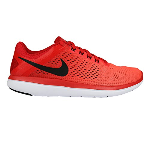 Nike Herren Flex 2016 RN Laufschuhe,Rot (601 UNIVERSITY RED/BLACK-BRIGHT CRIMSON),  45.5 EU