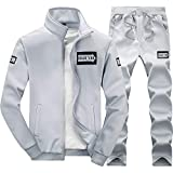 Trainingsanzug Herren Herbst Jogginganzug für Männer Sportanzug Freizeitanzug Jogginghose + Zip Sweatshirt Winter verdicken Sweatshirt Top Pants Sets Sportanzug Trainingsanzug