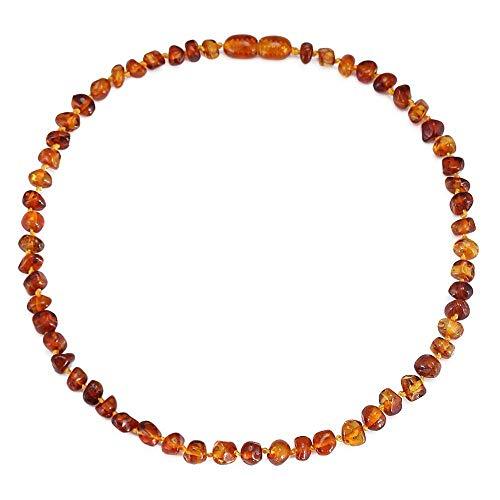 Regalo de la joyería del collar de ámbar del Báltico para la dentición de San Valentín elegante para mujeres 14cm