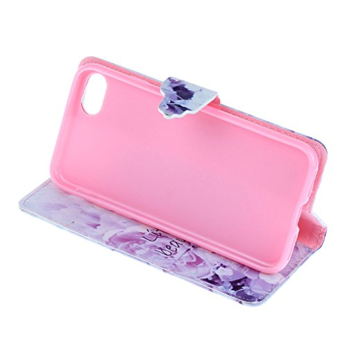 CareyNoce Apple iphone 7 Plus Coque,Flip Housse Etui Cuir PU Coque pour Apple iPhone 7 Plus (5.5 pouces) -- Léopard #1 T35