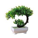 LiféUP Simulazione Crescent Lotus pianta in Vaso Tavolo Coperto Ornamenti di Simulazione Simulazione Bonsai Craft pianta Verde in plastica Fiore Decorativo Tavolo da tè Ornamenti