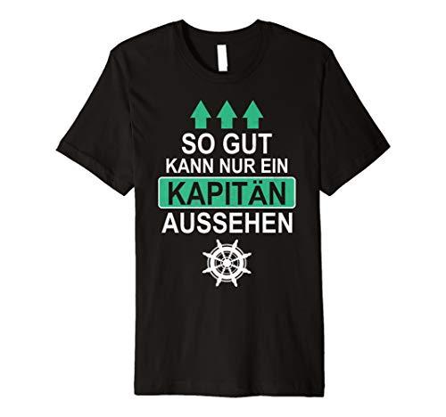 Herren Kapitän Geschenk Bootsfahrer Boot Bootsbesitzer (Kapitän Kostüm Shirt)