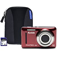 Kodak PIXPRO FZ53 Camera Kit with 8 GB SD Card and Case - Red