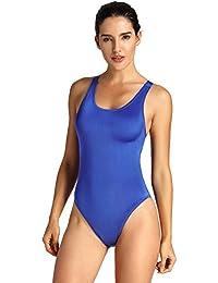 SYROKAN Donna Costume da Bagno di Un Pezzo Maxback Sportivo Atletico