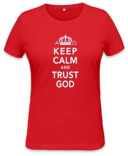 Keep Calm And Trust God Womens T-shirt