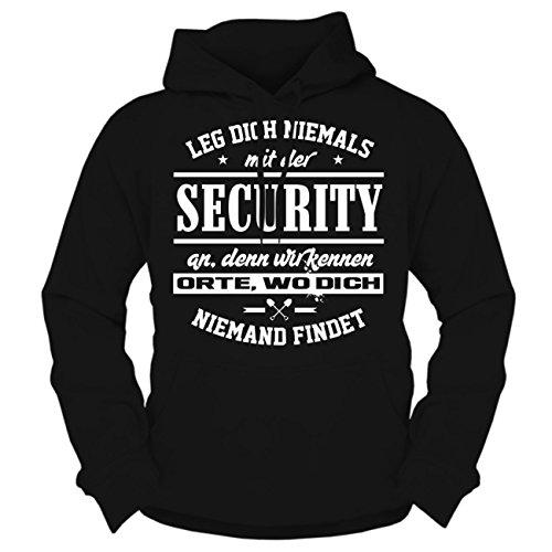 Spaß kostet Männer und Herren Kapuzenpullover Leg Dich Niemals mit der Security an