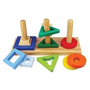 Bigjigs Toys Formes à tourner et à visser