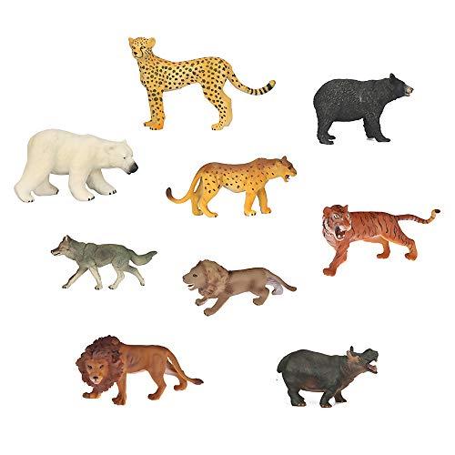 Gogogo 8 Stück Kinder Tiere Modell Spielzeug Figuren Ausschmückungen Spielzeug für Hause Schreibtisch oder Kinder Geschichte erzählen Requisiten
