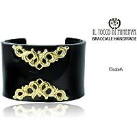 Armband schwarz glänzenden Plexiglas Elisabeth handgefertigt Made in Italy- handgefertigt - handgemacht - Mädchen Geschenk Mädchen - Geschenke für sie - Weihnachten