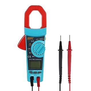 autool DM600 tragbar Autorange Digital-Strommesszange 6000 Counts 1000 A AC TRMS Zangenamperemeter Widerstand Kapazität Temperatur Multimeter (YELLOW)