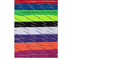 California Pro Crazy Cordones para Patines de Hockey, Colores Surtidos 270mm (1par), Color Green/White, tamaño Talla única