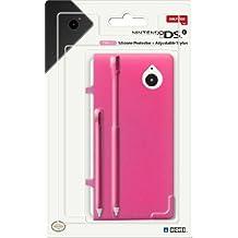 Hori Coque de protection en Silicone pour Nintendo DSi - avec 2 Stylets de taille ajustable - Rose - Accessoire Licence Officielle Nintendo DSi