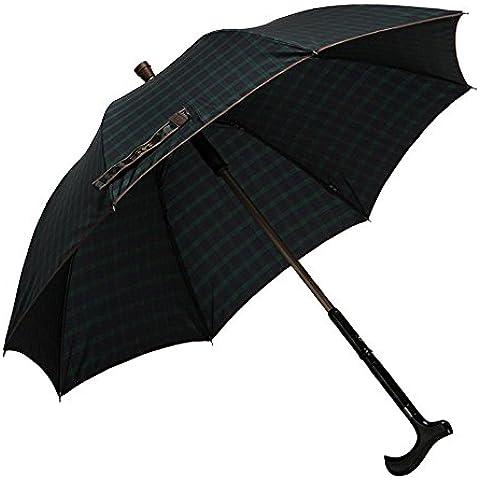 ssby inviare loro genitori Maniglia Bastone da passeggio ombrelli, Griglia Protezione UV, Sole diretto da uomo fine a duplice uso ombrello, green grid