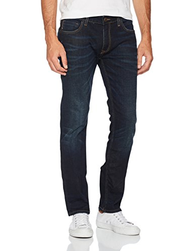 Cross Herren Slim Jeans Johnny Blau (Deep Blue 096)
