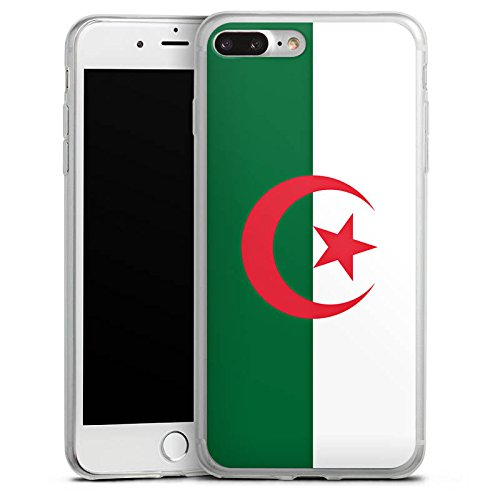Apple iPhone 8 Plus Slim Case Silikon Hülle Schutzhülle Algerien Flagge Fußball Silikon Slim Case transparent