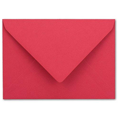 Briefumschläge in Flamingo-Pink | 50 Stück | farbige Kuverts in DIN C6 Format 114 x 162 mm | Nassklebung | ohne Fenster | ideal für Weihnachten, Grußkarten und Einladungen | Serie FarbenFroh® Hot Pink Karten-umschläge