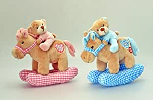Keel Toys - 65002 - Doudou - Cheval Bascule + Ours - 30 cm
