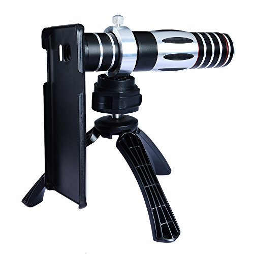 Apexel 5X-15X Optical Zoom Manual Focus Telephoto Telescope Camera Phone Lens with Tripod Holder/ Hard Cover Case for Samsung Galaxy S6 Edge Plus
