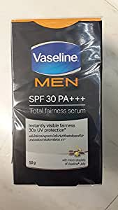 Vaseline Men Antispot Whitening Total Fairness Serum Spf 30 Pa+++ Visible Fairness The 1st Application 50 G.