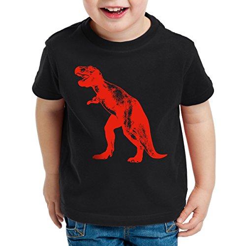 style3 Sheldon Dinosaurio Camiseta para Niños T-Shirt, Color:Nero;Talla:104