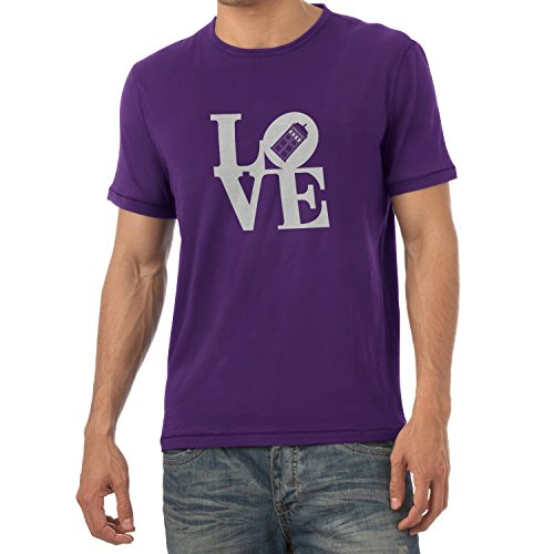 TEXLAB - Time Love - Herren T-Shirt Violett