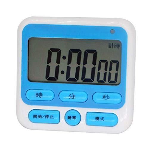 ZHAS Wecker LITING_Wang Stummschaltuhr Schüler Lernen Countdown Erinnerung Test Bibliothek Schlafsaal Stummer Alarm (Farbe: Blau)
