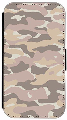 Kuna Flip Cover für Apple iPhone 5 / 5s Design K312 Army Muster Grün Hülle aus Kunst-Leder Handy Tasche Etui mit Kreditkartenfächern Schutzhülle Case Wallet Buchflip Rückseite Schwarz Vorderseite Bedr K320