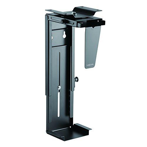 LogiLink Einstellbare Untertisch/Wand PC-Halterung 360° drehbar mit variabler Größeneinstellung für PC's bis zu 10kg