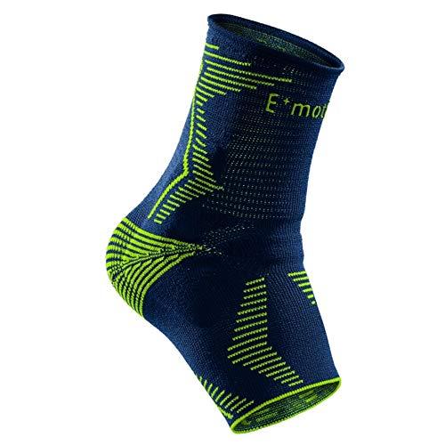 medi Levamed E⁺motion - Sprunggelenkbandage unisex | blau/grün | Größe 4 | Sportbandage für hohe Belastungen im Sport | Beidseitig tragbar