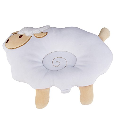 Nursing Pillow&Flat Head Pillow,KAKIBLIN 2 in 1 Organic Cotton Super Comfortable Pillow,white