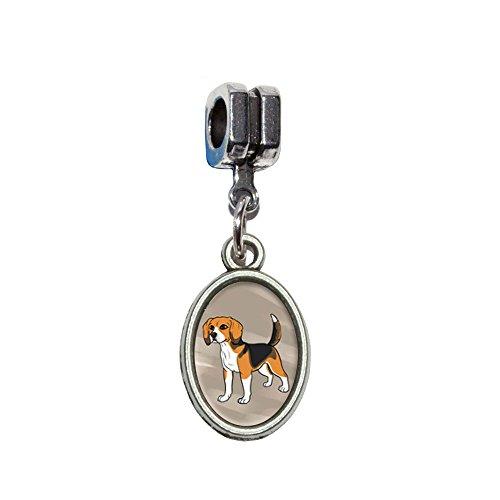 Beagle - Pet Dog Italian European Euro Style Bracelet Charm Bead - Fits Pandora, Biagi, Troll, Chamilla, Others by Graphics and More
