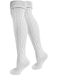 normani 2 Paar Oktoberfest Kniestrümpfe Trachten Socken EXTRA LANG aus Baumwolle