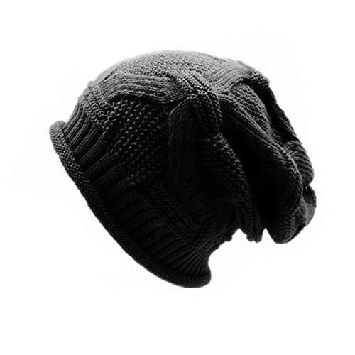 Rcool Cappello Cappelli e Cappellini Berretto Donna Uomo Unisex Inverno Elegante | Cascante Caldo Uncinetto Lana Lavorata a Maglia Sci Beanie Skull Slouchy Cappelli Cappello