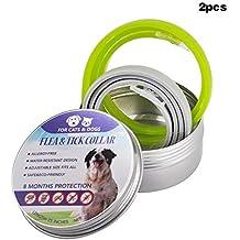 Wildlead Cat Collar para Perros Tick Flea Anti Insectos Mosquitos Impermeables de Larga duración 8 Meses