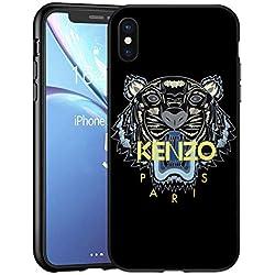 KENZ0 Tiger Coque iPhone XS Max - Housse de Protection en Silicone Rigide Anti-Chocs avec Technologie de Coussins d'air Étuis iPhone XS Max Coque UltraRock Séries - Noir