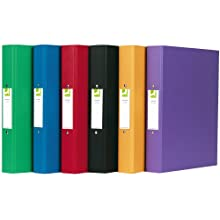 Q-Connect A4 2 Ring Binder Polypropylene - Assorted, Pack of 10
