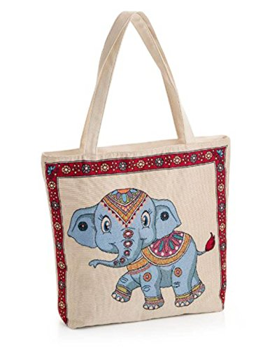 Hautefordiva , Damen Tote-Tasche Cream Elephant L Cream Elephant